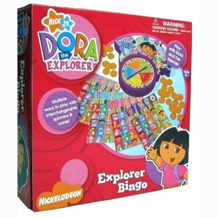 Dora the Explorer Bingo ~ Multiple ways to play with interchangeable spinners &