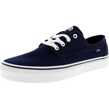 a29a70f17d Vans Men s Brigata Suede Dress Blues   True White Ankle-High Skateboarding  Shoe - 10M