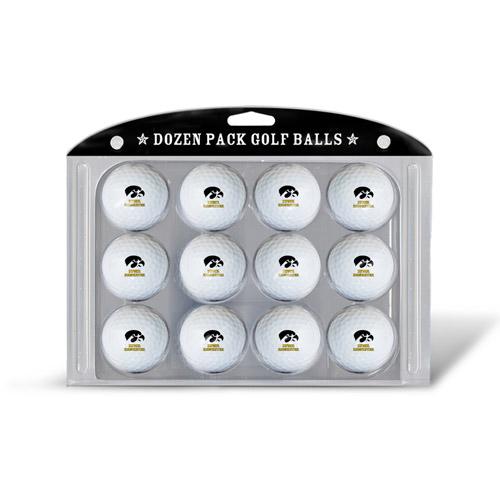 Team Golf Iowa Hawkeyes Golf Balls, 12 Pack