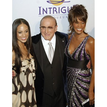 Alicia Keys Clive Davis Whitney Houston At Arrivals For Clive Davis Pre-Grammy Party Beverly Hilton Hotel Los Angeles Ca February 09 2008 Photo By Jared MilgrimEverett Collection -