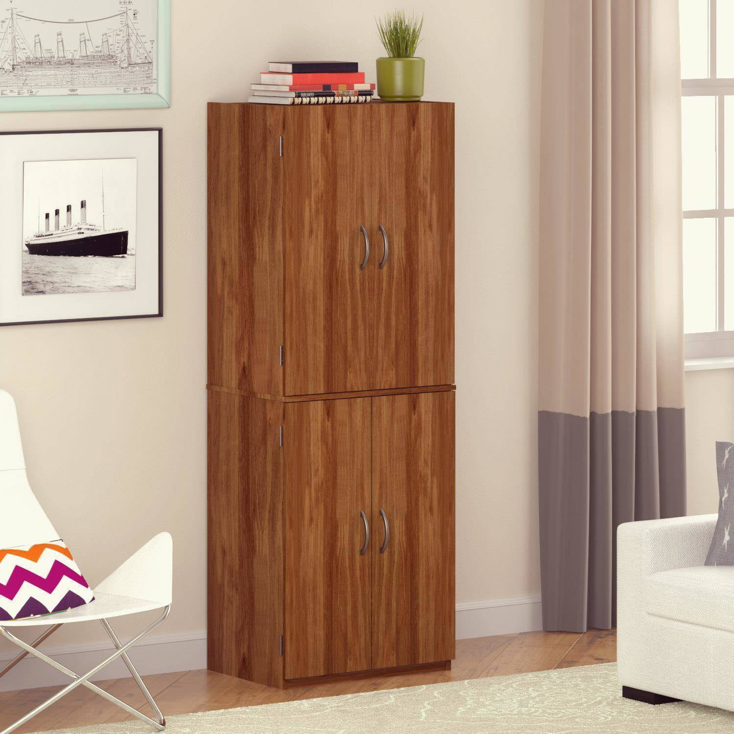 Costway Kitchen Storage Cabinet Sideboard Buffet Cupboard Wood Sliding Door  Pantry   Walmart.com