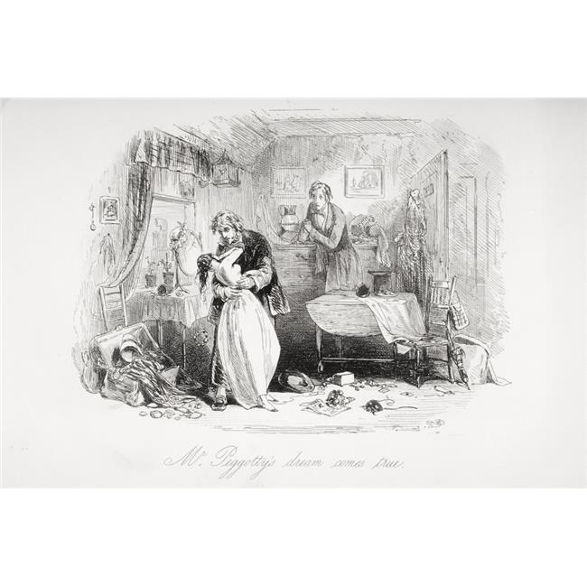 Posterazzi DPI1860183 Mr. Peggottys Dream Comes True. Illustration From the Charles Dickens Novel Poster Print, 18 x 12 - image 1 de 1