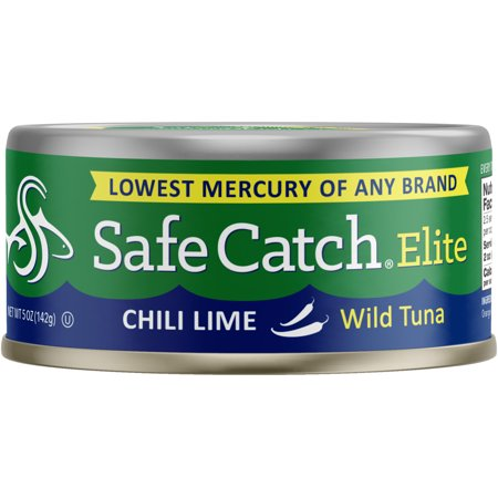 (2 Pack) Safe Catch Seasoned Elite Wild Tuna, Chili Lime, 5 oz can