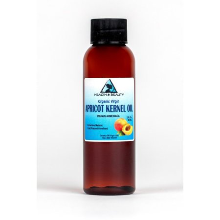APRICOT KERNEL OIL UNREFINED ORGANIC VIRGIN COLD PRESSED RAW NATURAL PURE 2 OZ