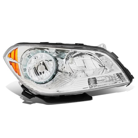 For 2008 to 2012 Chevy Malibu 1Pc Right / Passenger Side Factory Style Chrome Housing Headlight Lamp 09 10 11 09 Factory Replacement