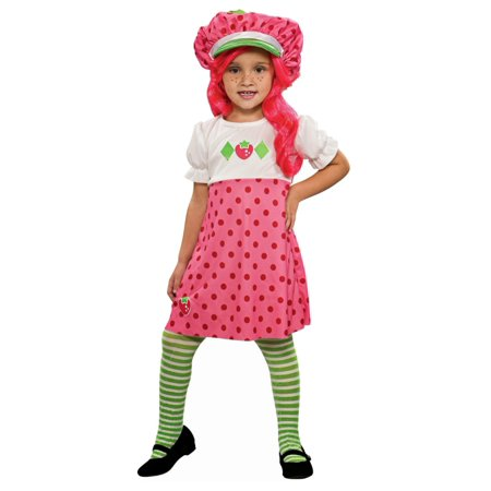 Rubies Girls Strawberry Shortcake Costume with Wig Hats & Tights Small 4-6  - Size - Small (4-6) - Strawberry Shortcake Baby Costume