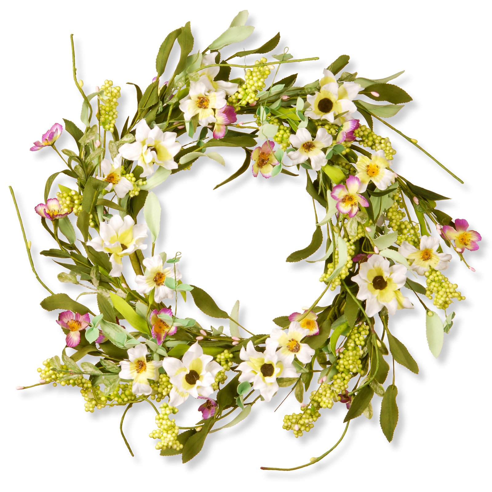 "National Tree Artificial 20"" Floral Wreath"