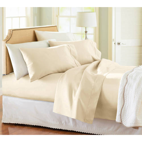 Better Homes & Gardens 300 Thread Count Ivory Bed Sheet Set, 1 Each
