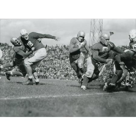 Avanti Press John Pingel Carrying Football Historic Detroit Blank Note - Football Stationery