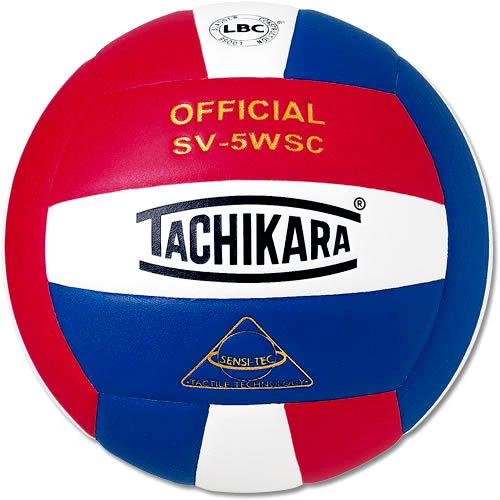 Tachikara SV5WC Red, White and Blue Volleyball