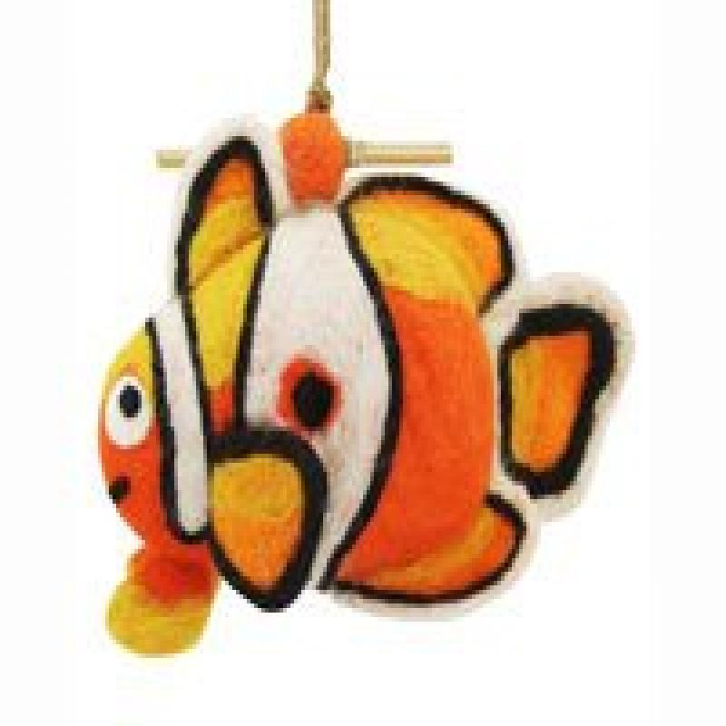 DZI Handmade Designs DZI484038 Clown Fish Felt Birdhouse