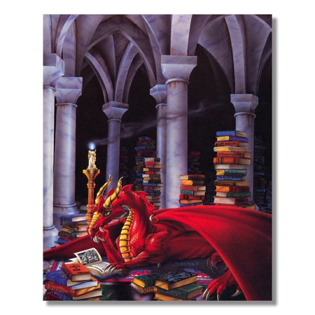 Inner Fire Art - Fire Dragon Treasure Fantasy Wall Picture Art Print