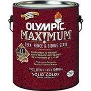 Olympic/Ppg Architectural Fin 79612A/01 Maximum Deck, Fence & Siding Stain & Sealant, Exterior, Acrylic, Tint Base 2, (Siding Latex)