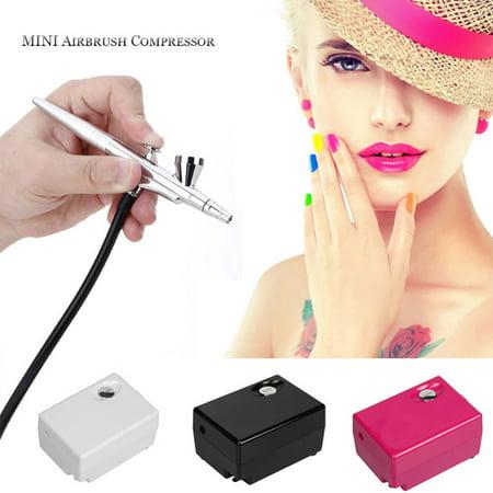 Airbrush Makeup Kit Spray Gun Set With Mini Compressor For Cake