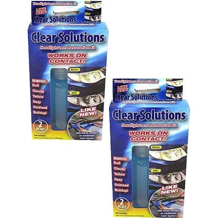 Clear Solutions Headlight Lens Restoration Kit (2 (Diy Lens Repair)