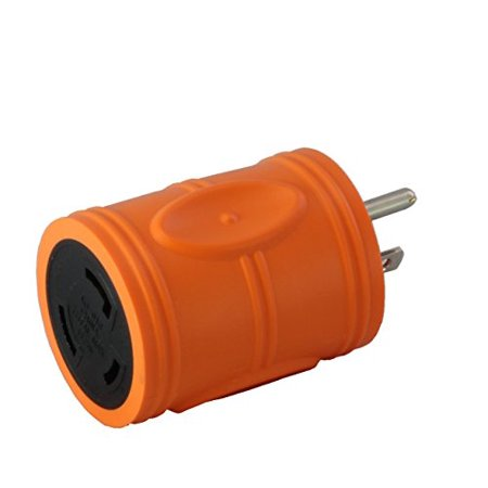 30a 125v Locking Connector - AC Connectors AD515L530 Locking Adapter N.A. Household Plug to Locking L5-30R 30A 125Volt Female Connector