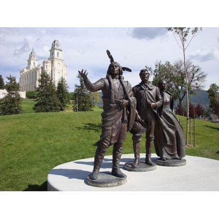 LAMINATED POSTER Mormon Statues Manti Grounds Utah Temple Estate Poster Print 24 x 36