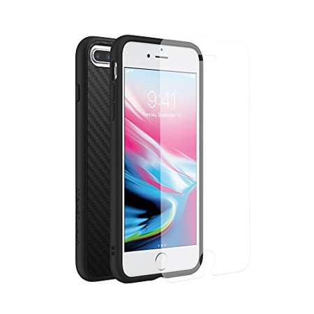 innovative design 38f4b 97fcc RhinoShield Case for iPhone 8 Plus/iPhone 7 Plus [SolidSuit] | with Impact  Protection Screen Protector - Shock Absorbent Slim Design Phone [3.5M / ...