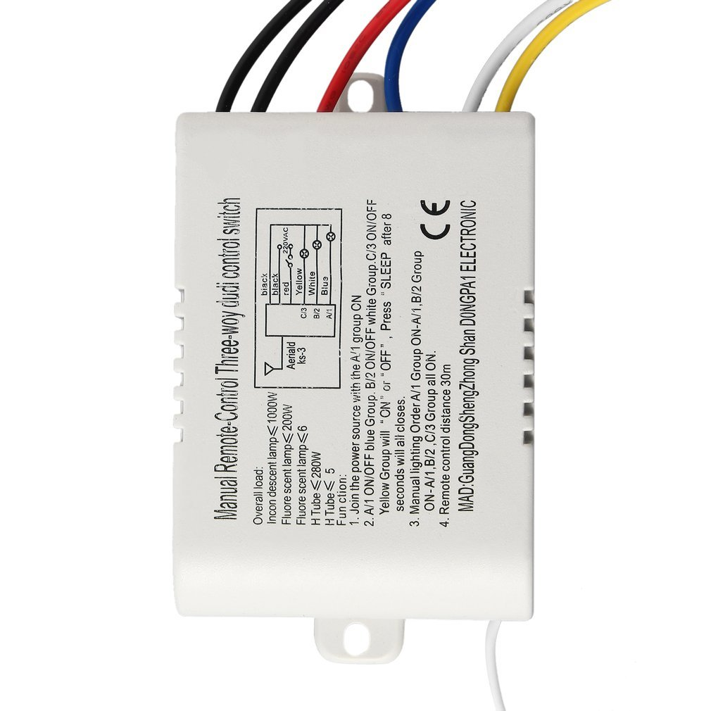 220v 3 Way On Off Digital Rf Remote Control Switch Wireless For About 3way Light Lamp