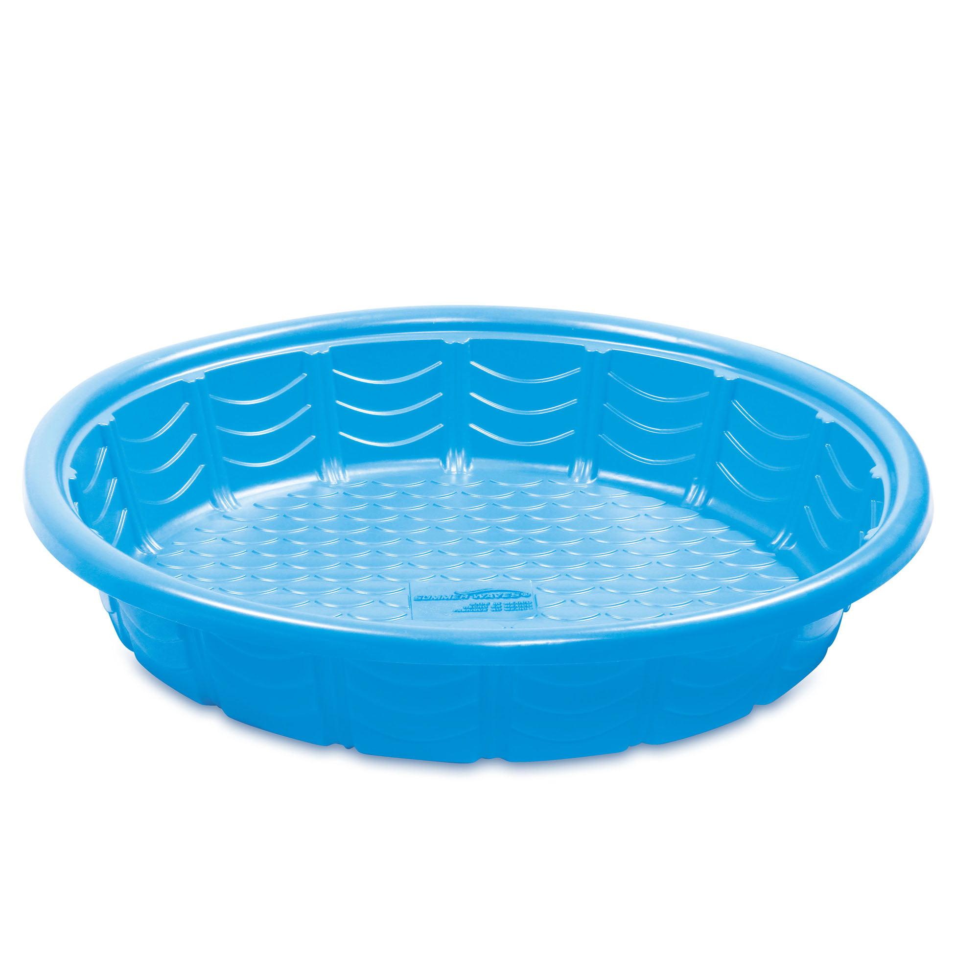 Summer Waves 59 Plastic Wading Kiddie Pool Blue Walmart Com Walmart Com