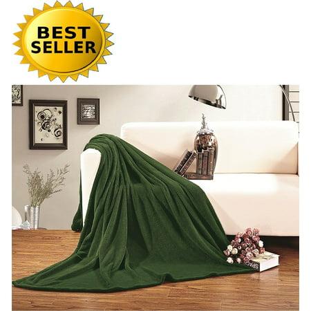 #1 Fleece Blanket on Walmart - Super Soft - SALE - All Season Super Plush Luxury FLEECE BLANKET, KING/CAL KING Green, #1 LUXURY FLEECE BLANKET ON.., By Celine (Hunter Green Blanket)