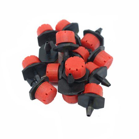 100pcs Plastic Adjustable Emitter Dripper Micro Drip Irrigation Sprinklers Watering System Automatic Water Spray Nozzle Drip Irrigation Trees