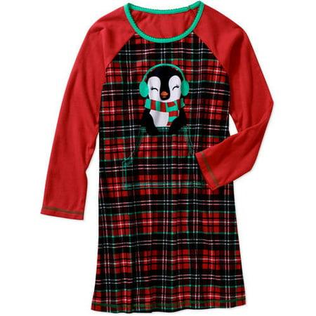 Girls  Long Sleeve Sleep Gown - Walmart.com d3d0f8de0