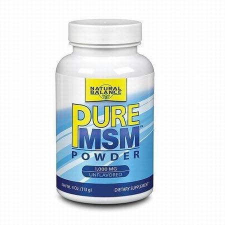 Pure MSM Powder 1000 mg Natural Balance 4 oz Powder