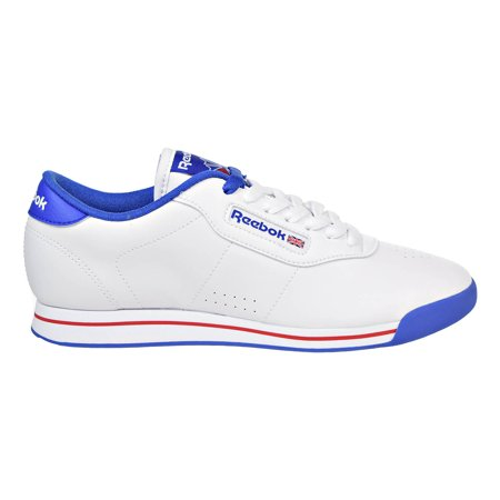 0e22d3ecbca496 Reebok - Reebok Princess Fitness Classic Womens Shoes White Tetra Blue Red  v48958 - Walmart.com