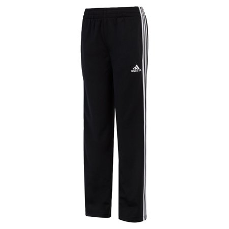Adidas Boy's Youth Tech-Fleece Track Pants (Black/White, Small) (Adidas Track Pants For Boys)