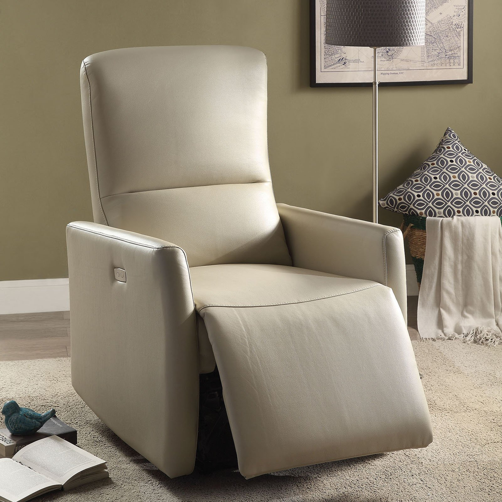 ACME Raff Power Motion Recliner, Multiple Colors by Acme Furniture