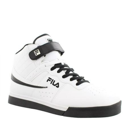 281971d48c6 Fila Mens Vulc 13 Faux Leather Contrast Trim High Top Sneakers