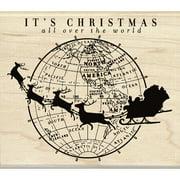 "Inkadinkado Mounted Rubber Stamp 3.5""X4""-It's Christmas"