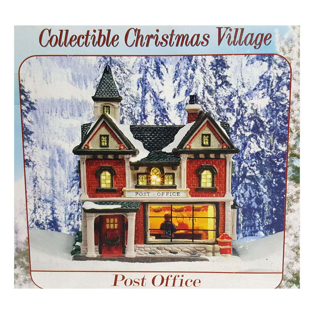 "Holiday Creek Village ""Post Office"" Porcelain Lighted"