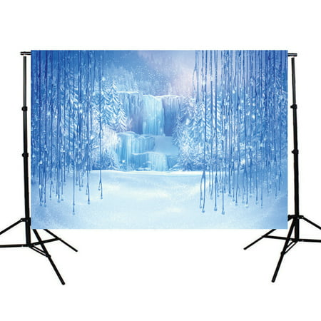 5x7ft Studio Photo Video Photography Backdrops Winter Night Scene Printed Vinyl Fabric Party Decorations Background Screen Props (Scene Backdrops)