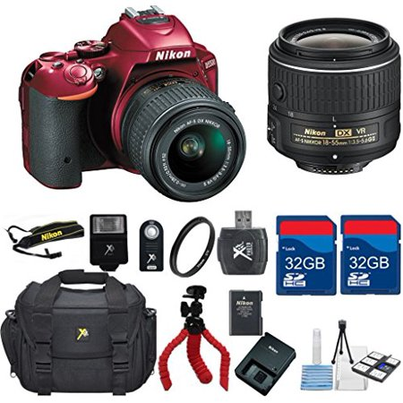 Nikon D5500  Red  Dx Dslr   18 55 Vrlens   Top Value Bundle   International Version  No Warranty