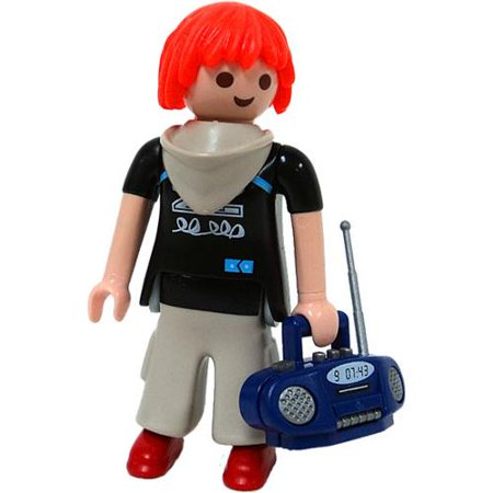 Playmobil Fi?ures Series 1 Pink Kid with Boombox Minifigure [Loose]