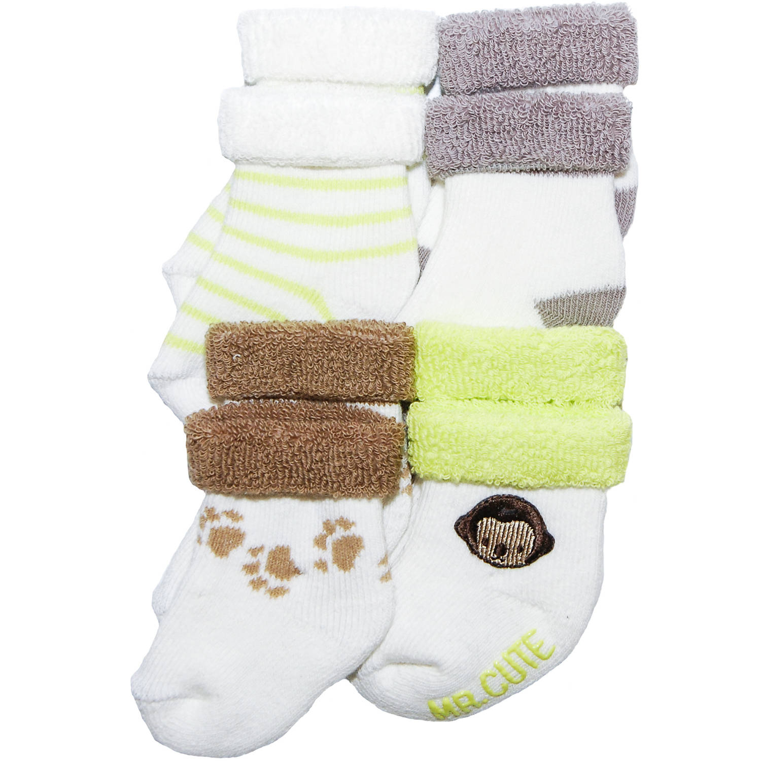 Child of Mine by Carter's Newborn Baby Boy 6-Pack Terry Roll Socks