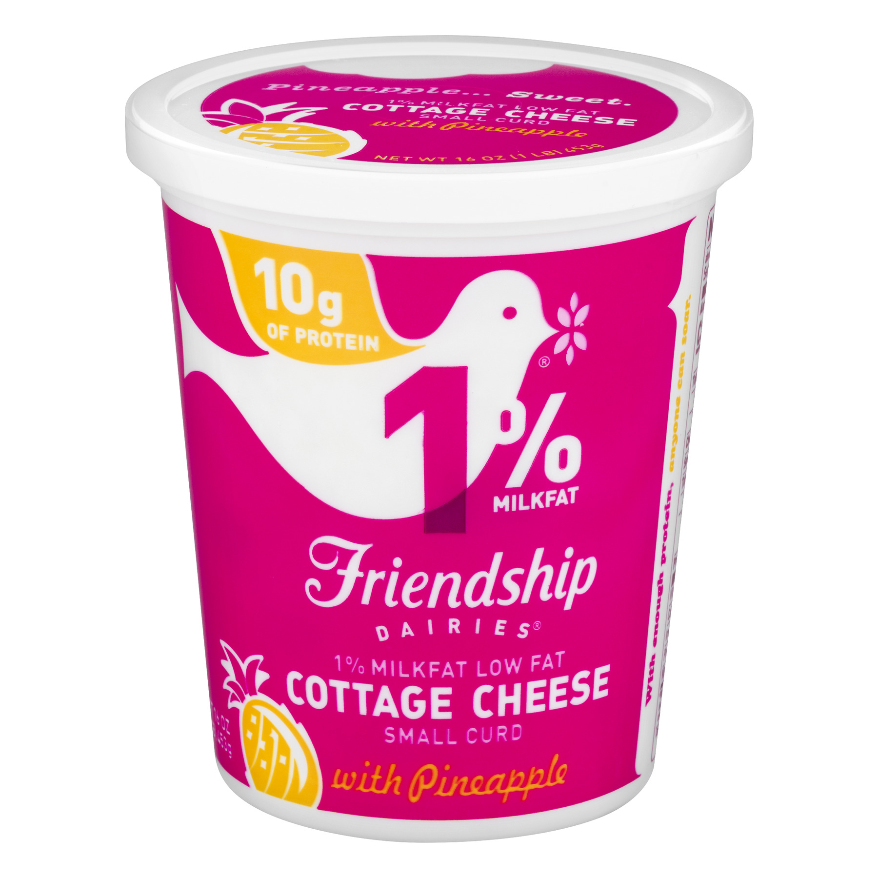 friendship dairies 1 milkfat cottage cheese with pineapple 16 0