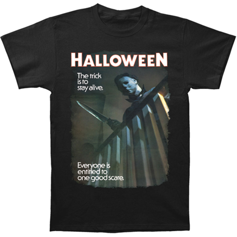 Halloween Men's  One Good Scare T-shirt Black