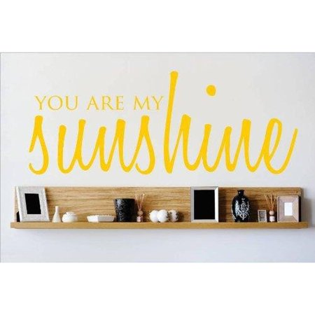 You Are My Sunshine Quote Living Room Vinyl Wall Decal, 9