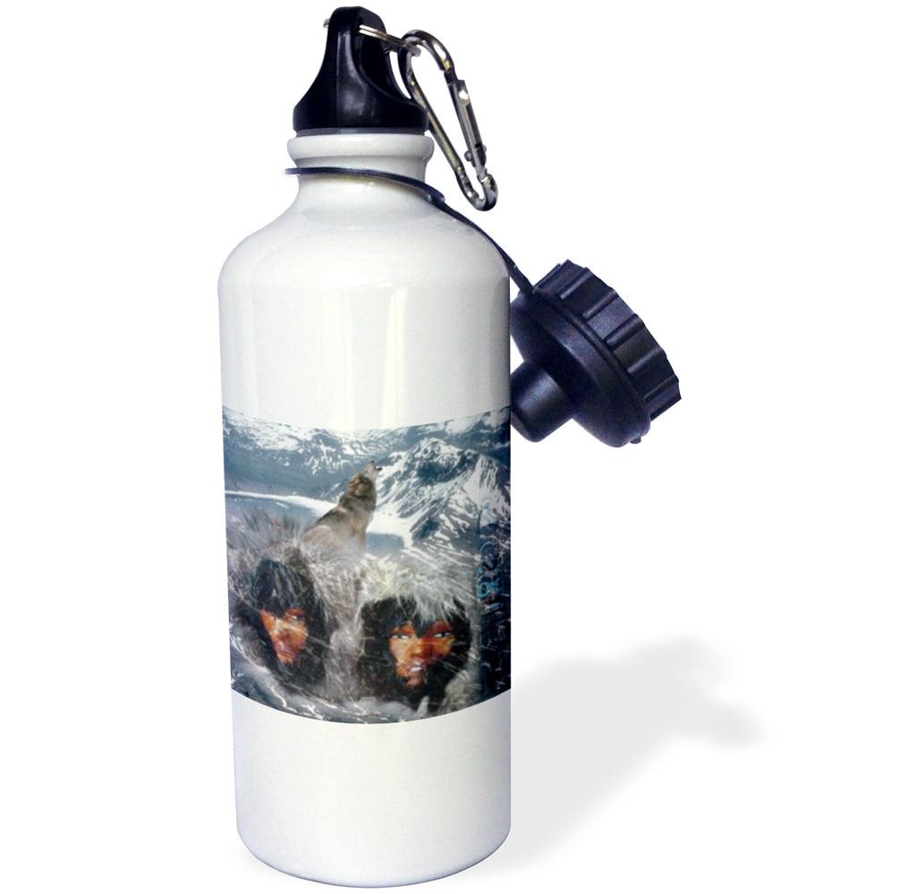 3dRose Native Winter Spirit in Alaska, Sports Water Bottle, 21oz by Supplier Generic
