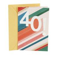 Hallmark 40th Birthday Greeting Card (Beams)