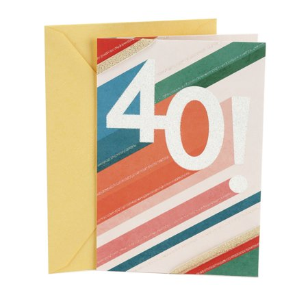 Hallmark 40th Birthday Greeting Card Beams