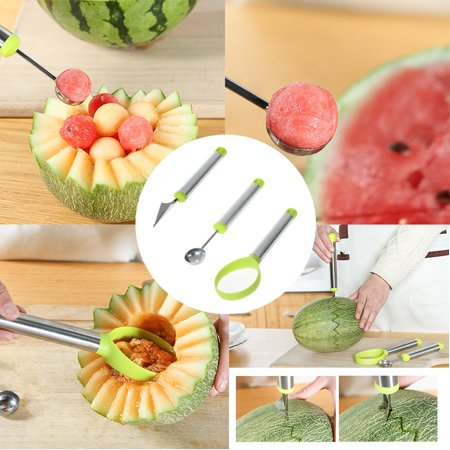 Carving Watermelon Halloween (Food Carving Watermelon Tool Set Of Three Watermelon Baller Carving Seed)