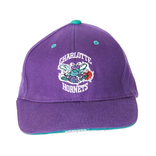 Charlotte Hornets NBA Twins Enterprise Snapback Hat, Purple + GT Wristband