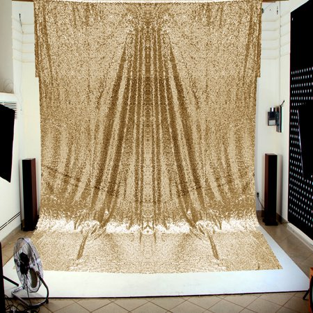 Custom Photo Booth Backdrop (4X6FT Gold/Silver Shimmer Sequin Fabric Studio Photo Backdrop Wedding Party Photo Ceremony Booth Wall Photography)