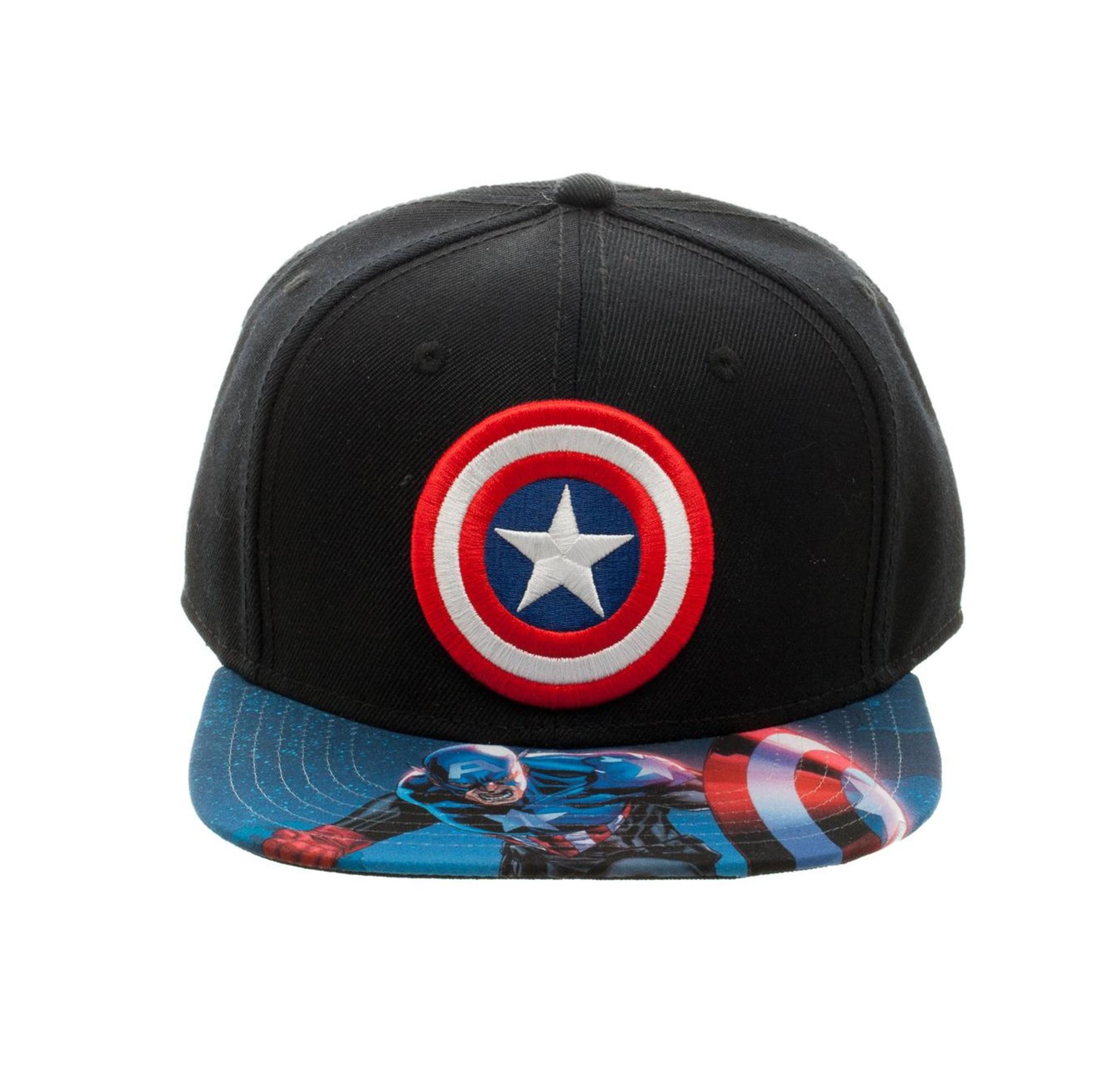 Bioworld Licensed Captain America - Marvel Comics Sublimated Brim ... e4fedc1701a