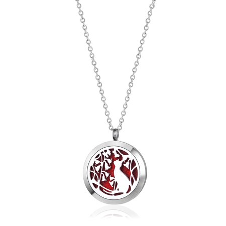 Anavia Cat Aromatherapy Jewelry Essential Oil Necklace With Gift Box