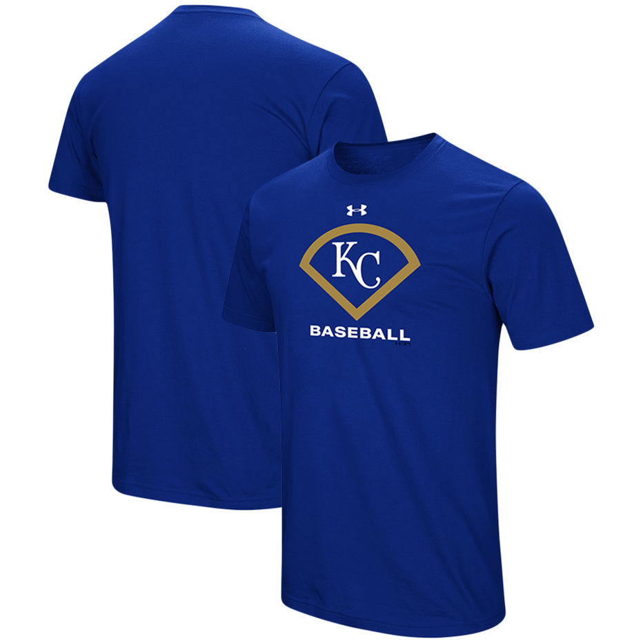 Kansas City Royals Under Armour Performance Icon T-Shirt - Royal